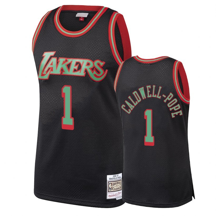 Choisir Maillot NBA Los Angeles Lakers 2018 Noël NO.11 Kentavious Caldwell Pope Retro Noir