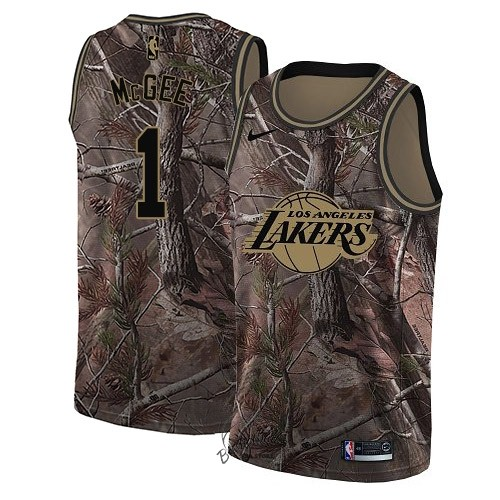 Choisir Maillot NBA Los Angeles Lakers NO.1 JaVale McGee Camo Swingman Collection Realtree 2018
