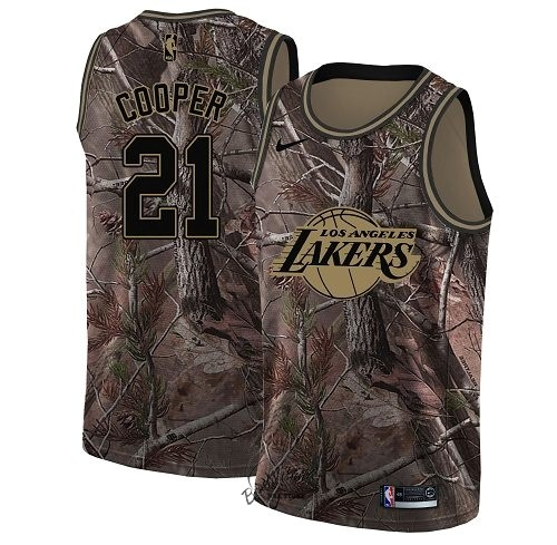 Choisir Maillot NBA Los Angeles Lakers NO.21 Michael Cooper Camo Swingman Collection Realtree 2018