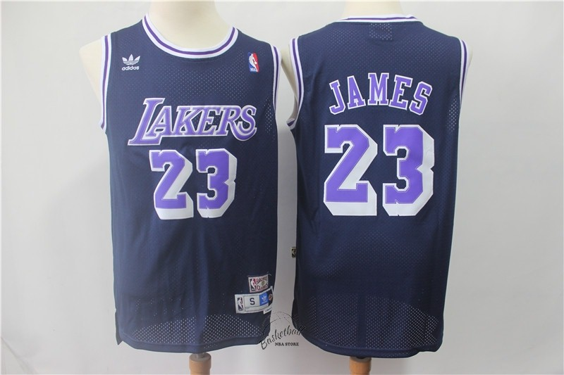 Choisir Maillot NBA Los Angeles Lakers NO.23 Lebron James Retro Noir Pourpre