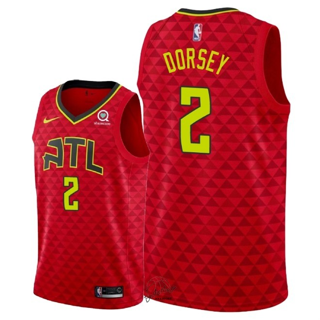 Choisir Maillot NBA Nike Atlanta Hawks NO.2 Tyler Dorsey Rouge Statement 2018