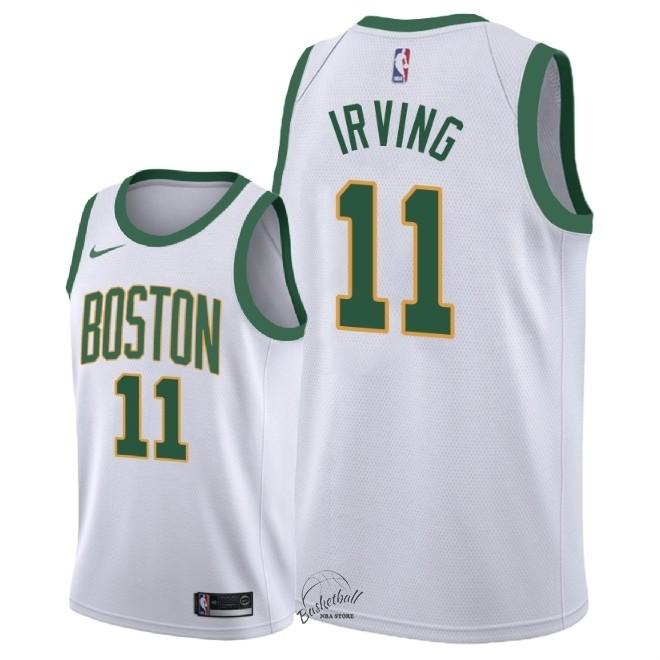 c3f80252e2c58 Choisir Maillot NBA Nike Boston Celtics NO.11 Kyrie Irving Nike Blanc Ville  2018-