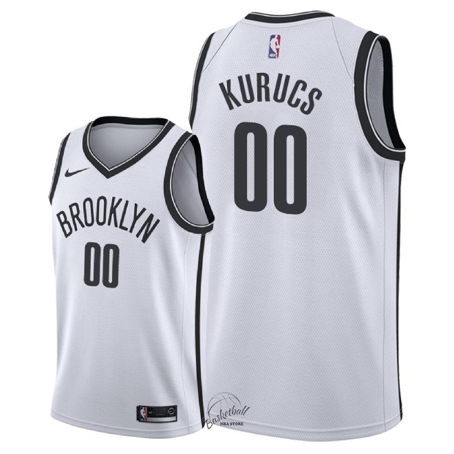 Choisir Maillot NBA Nike Brooklyn Nets NO.0 Rodions Kurucs Blanc Association 2018