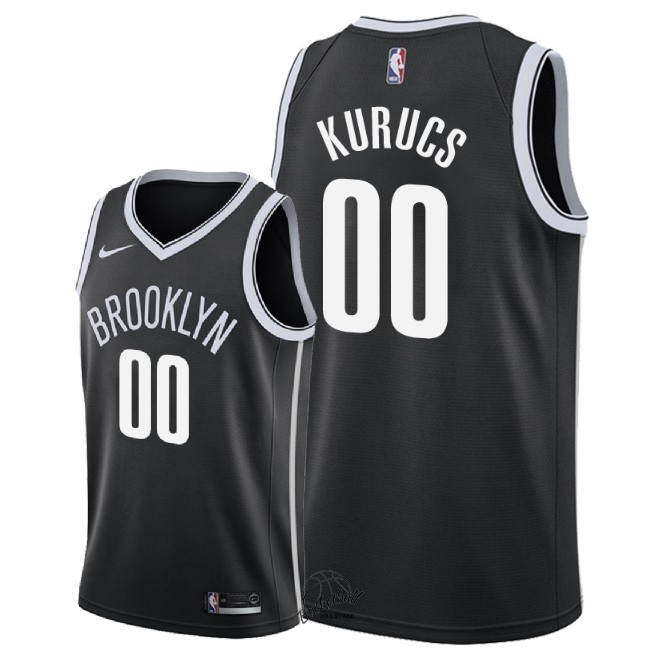 Choisir Maillot NBA Nike Brooklyn Nets NO.0 Rodions Kurucs Noir Icon 2018