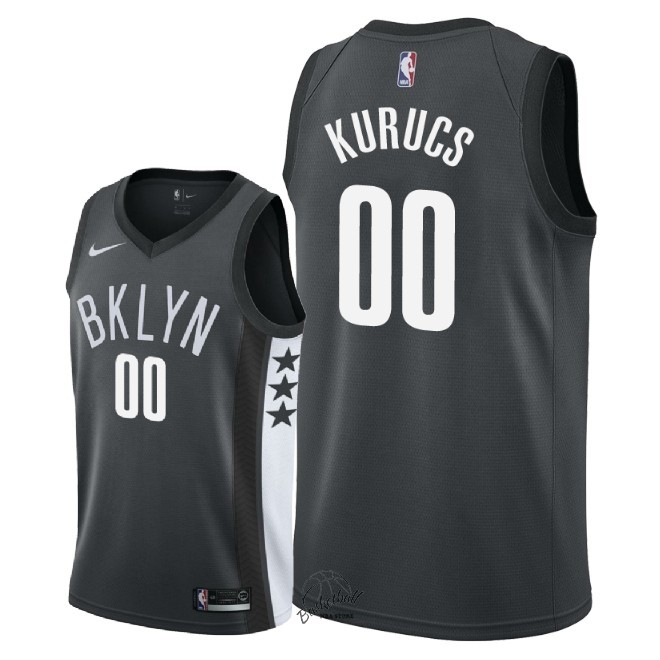 Choisir Maillot NBA Nike Brooklyn Nets NO.0 Rodions Kurucs Noir Statement 2018