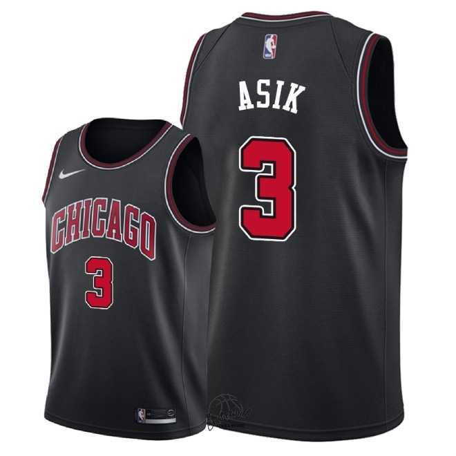 Choisir Maillot NBA Nike Chicago Bulls NO.3 Omer Asik Noir Statement 2018