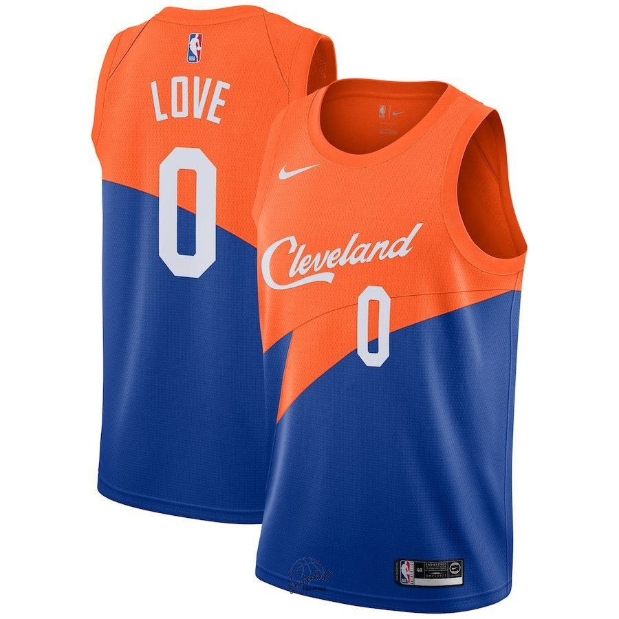 Choisir Maillot NBA Nike Cleveland Cavaliers NO.0 Kevin Love Nike Bleu Ville 2018-19