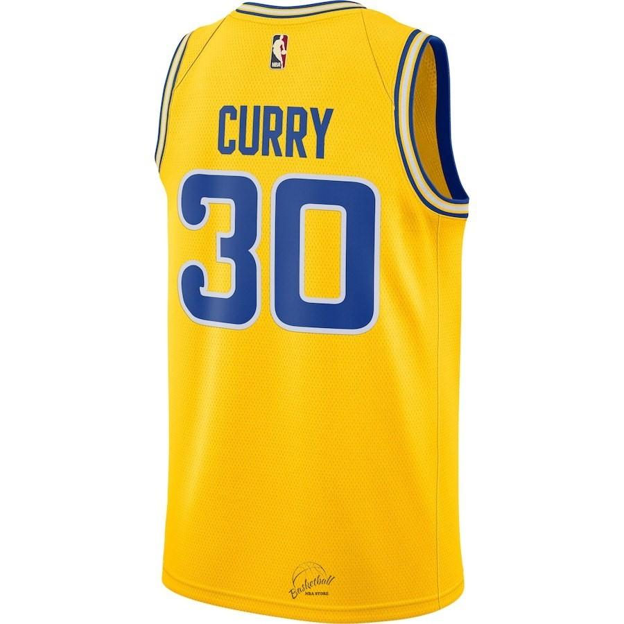 ... Choisir Maillot NBA Nike Golden State Warriors NO.30 Stephen Curry Nike  Retro Jaune 2018 ... a402e79886d