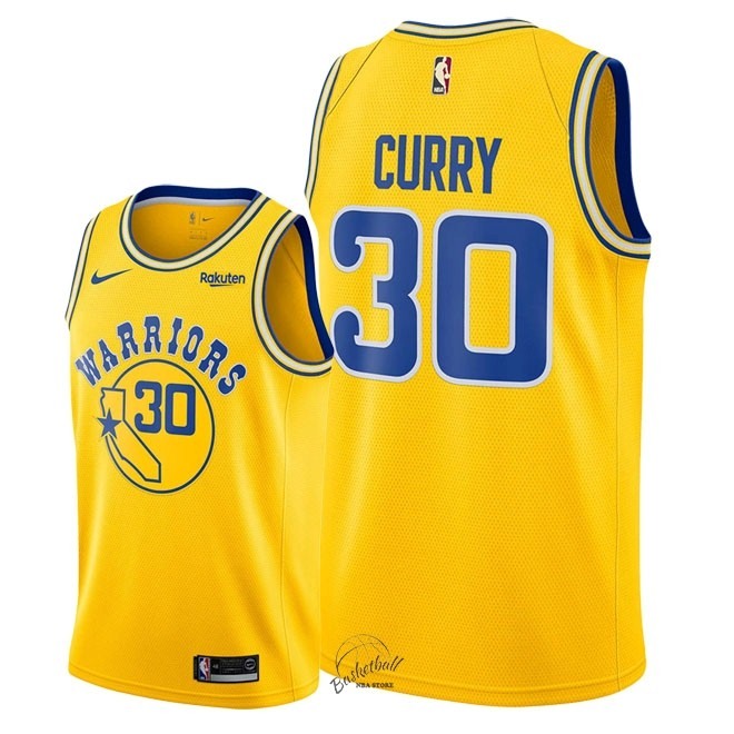 def399020f75f Choisir Maillot NBA Nike Golden State Warriors NO.30 Stephen Curry Retro  Jaune 2018-
