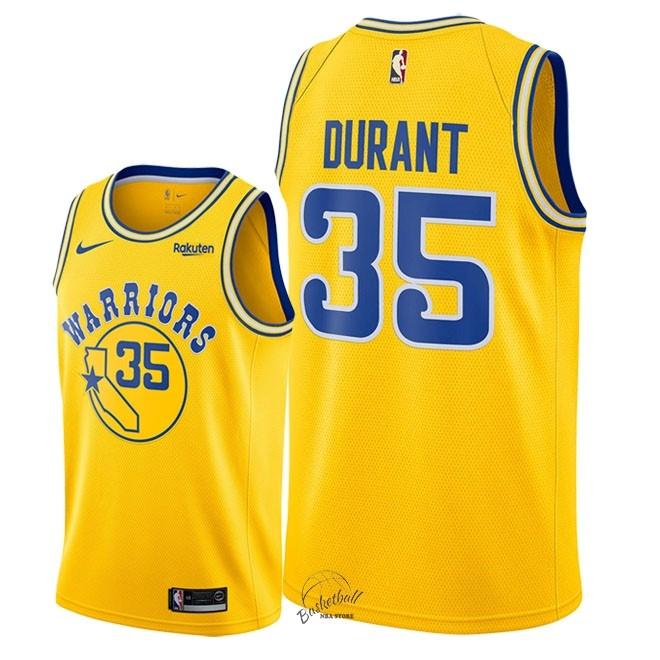 5052907078127 Choisir Maillot NBA Nike Golden State Warriors NO.35 Kevin Durant Retro  Jaune 2018-