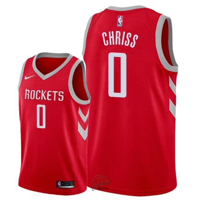 Choisir Maillot NBA Nike Houston Rockets NO.0 Marquese Chriss Rouge Icon 2018