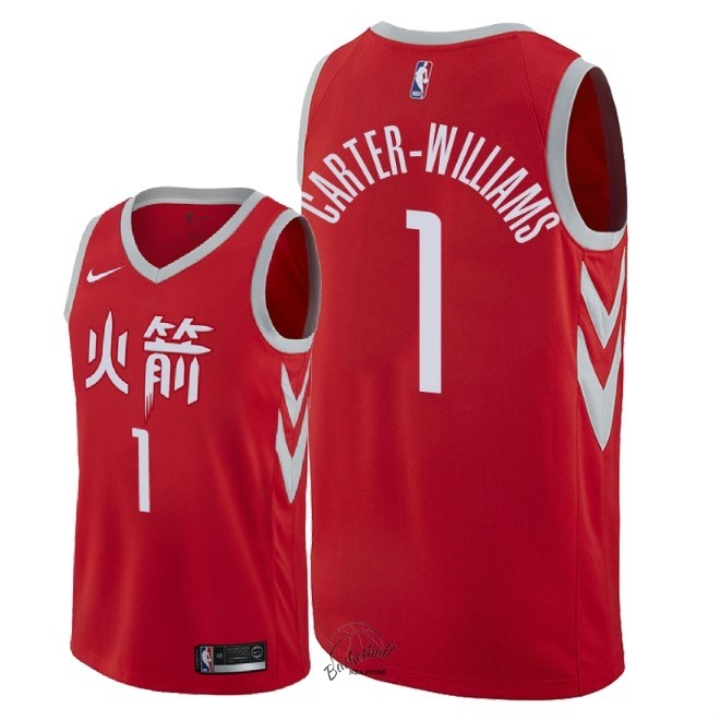 Choisir Maillot NBA Nike Houston Rockets NO.1 Michael Carter Williams Nike Rouge Ville 2018
