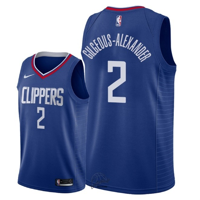 Choisir Maillot NBA Nike Los Angeles Clippers NO.2 Shai Gilgeous Alexander Bleu Icon 2018