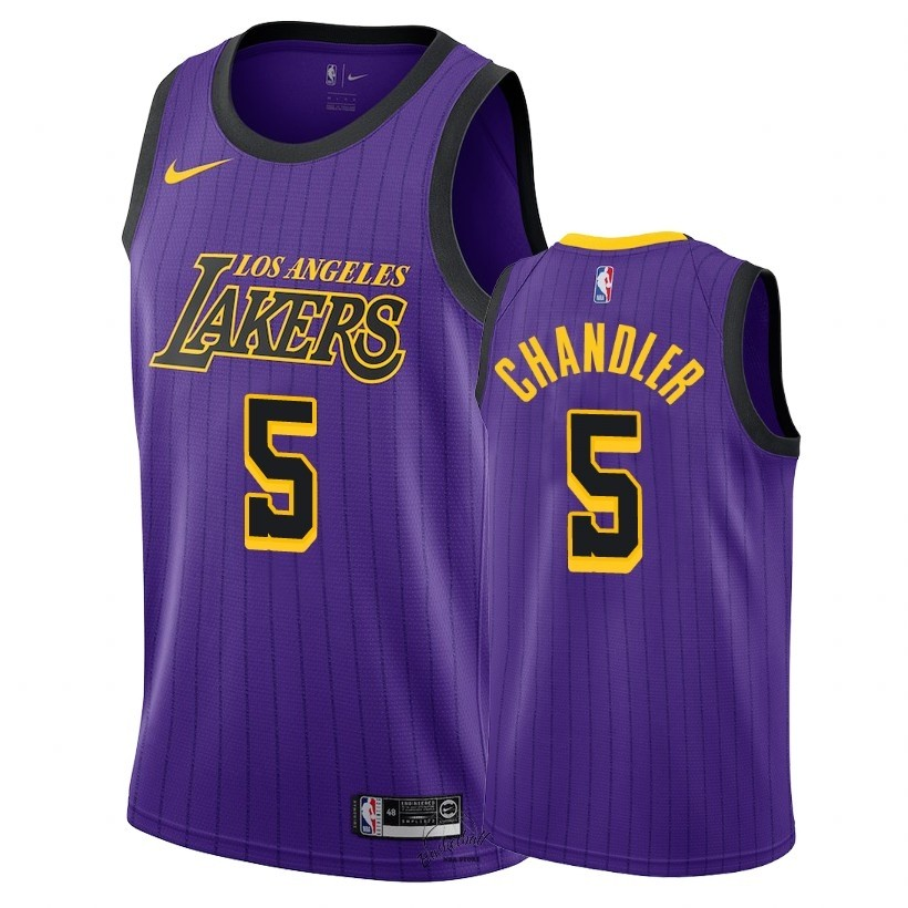 Choisir Maillot NBA Nike Los Angeles Lakers NO.5 Tyson Chandler Nike Pourpre Ville 2018-19
