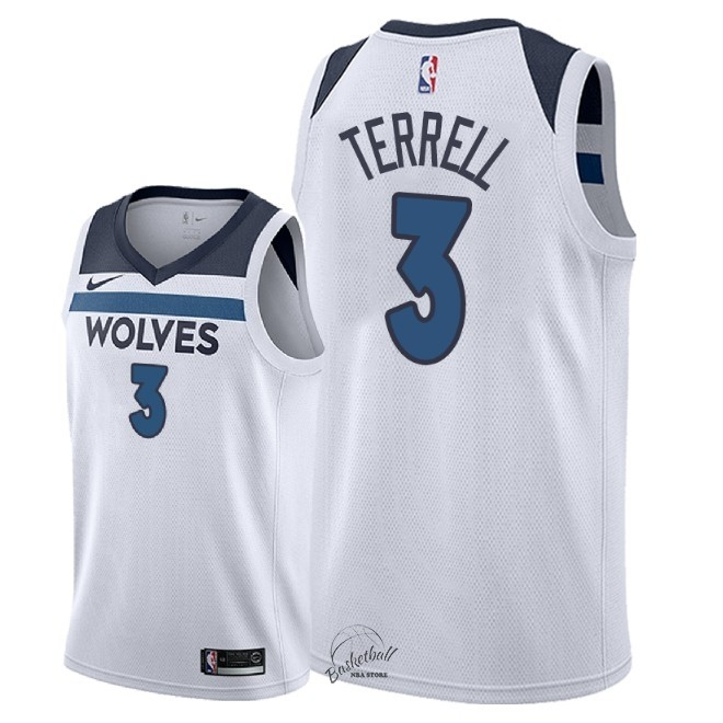 Choisir Maillot NBA Nike Minnesota Timberwolves NO.3 Jared Terrell Blanc Association 2018