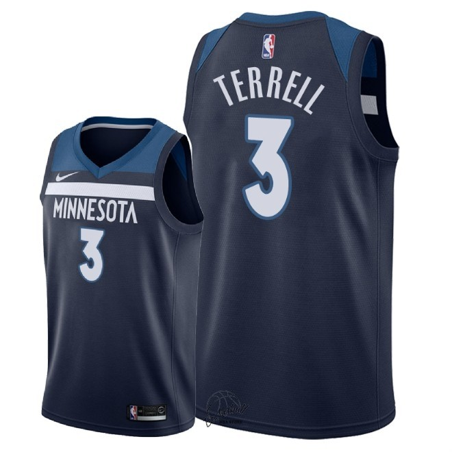 Choisir Maillot NBA Nike Minnesota Timberwolves NO.3 Jared Terrell Marine Icon 2018