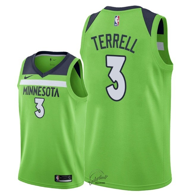 Choisir Maillot NBA Nike Minnesota Timberwolves NO.3 Jared Terrell Vert Statement 2018