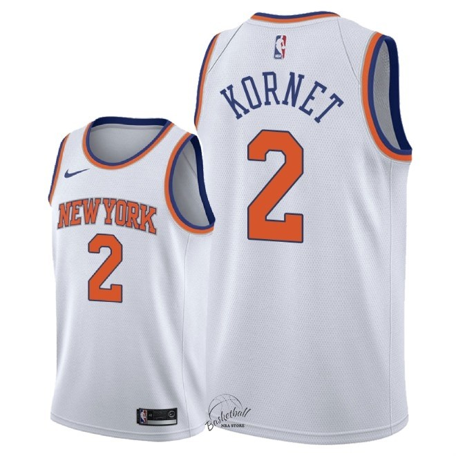 Choisir Maillot NBA Nike New York Knicks NO.2 Luke Kornet Blanc Association 2018