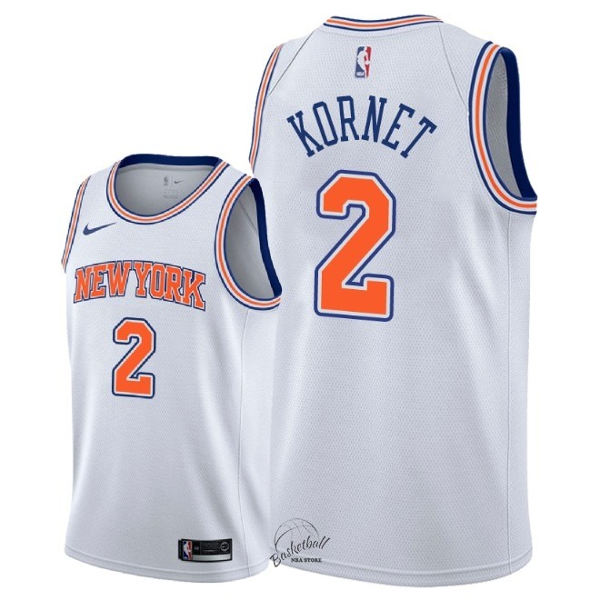 Choisir Maillot NBA Nike New York Knicks NO.2 Luke Kornet Blanc Statement 2018