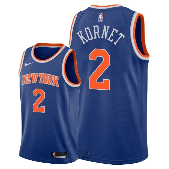 Choisir Maillot NBA Nike New York Knicks NO.2 Luke Kornet Bleu Icon 2018