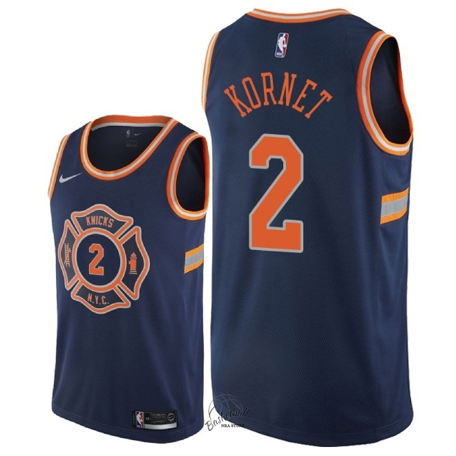 Choisir Maillot NBA Nike New York Knicks NO.2 Luke Kornet Nike Marine Ville 2018