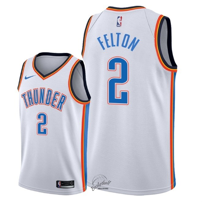 Choisir Maillot NBA Nike Oklahoma City Thunder NO.2 Raymond Felton Blanc Association 2018