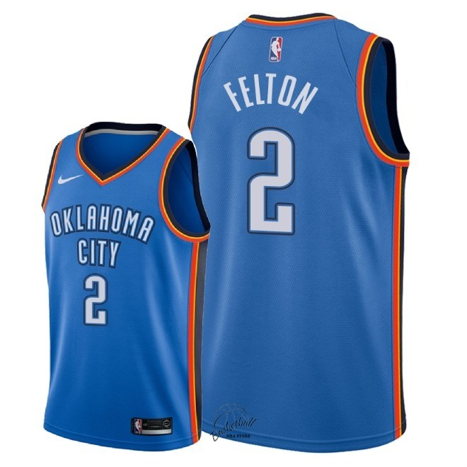 Choisir Maillot NBA Nike Oklahoma City Thunder NO.2 Raymond Felton Bleu Icon 2018