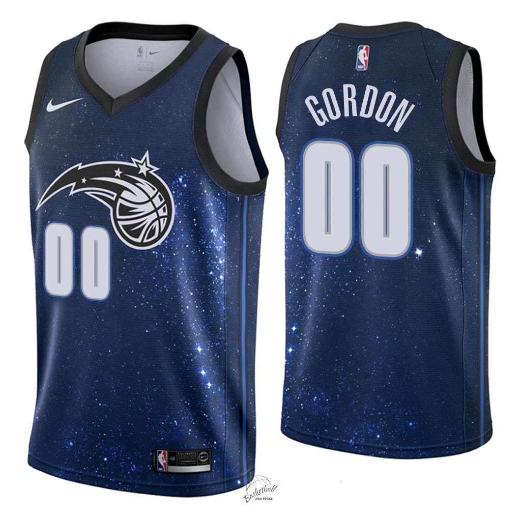 Choisir Maillot NBA Nike Orlando Magic NO.0 Aaron Gordon Nike Marine Ville 2018