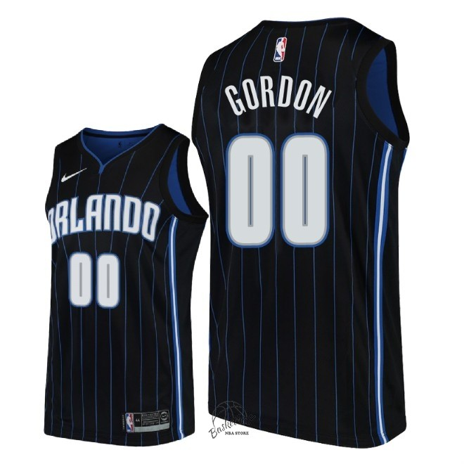 Choisir Maillot NBA Nike Orlando Magic NO.0 Aaron Gordon Noir Statement 2018