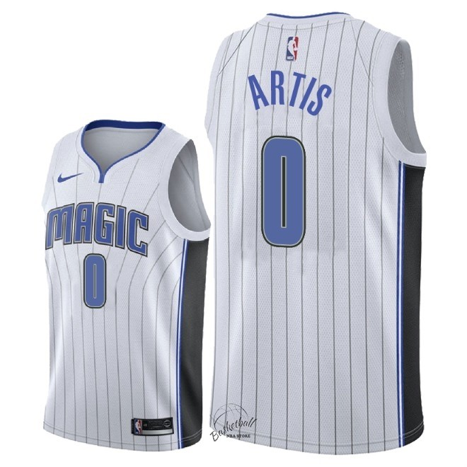 Choisir Maillot NBA Nike Orlando Magic NO.0 Jamel Artis Blanc Association 2018