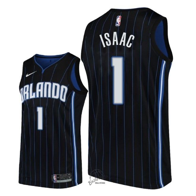 Choisir Maillot NBA Nike Orlando Magic NO.1 Jonathan Isaac Noir Statement 2018