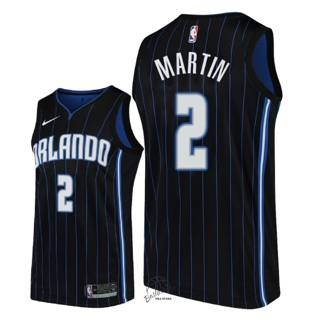 Choisir Maillot NBA Nike Orlando Magic NO.2 Jarell Martin Noir Statement 2018-19