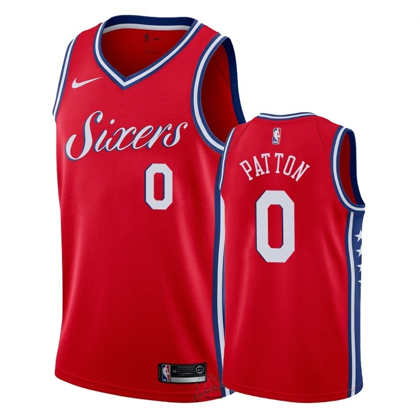 Choisir Maillot NBA Nike Philadelphia Sixers NO.0 Justin Patton Rouge Statement 2018