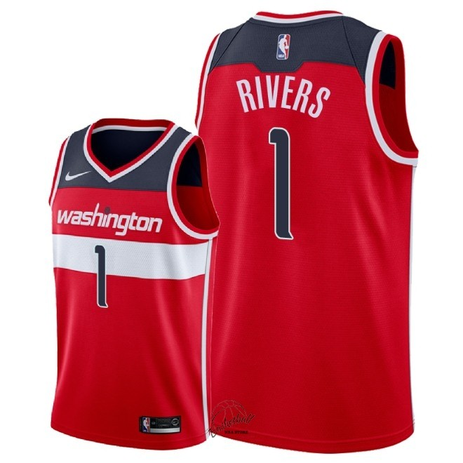 Choisir Maillot NBA Nike Washington Wizards NO.1 Austin Rivers Rouge Icon 2018
