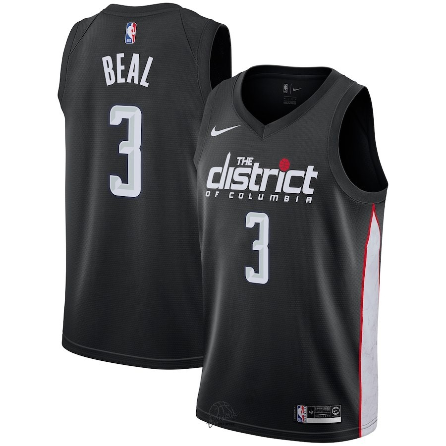 Choisir Maillot NBA Nike Washington Wizards NO.3 Bradley Beal Nike Noir Ville 2018-19