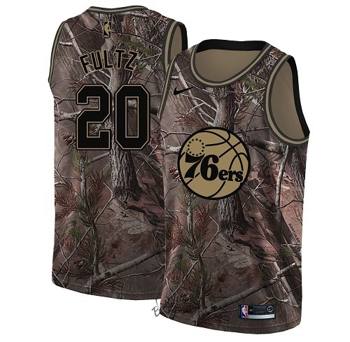 Choisir Maillot NBA Philadelphia Sixers NO.20 Markelle Fultz Camo Swingman Collection Realtree 2018
