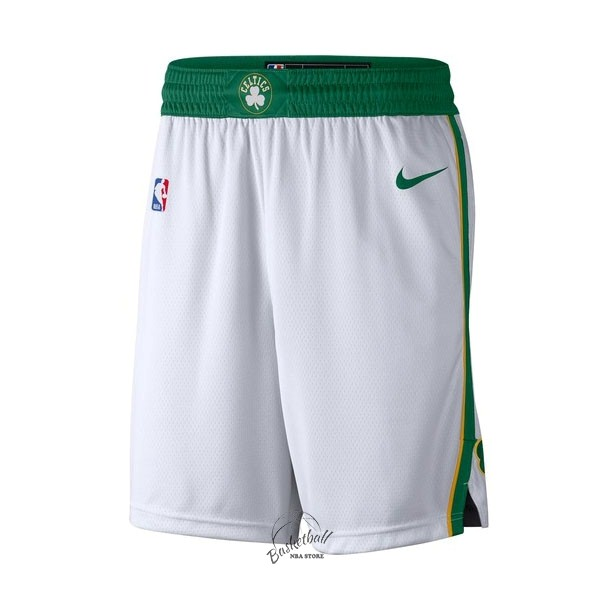 Choisir Short Basket Boston Celtics Nike Blanc Ville 2018-19