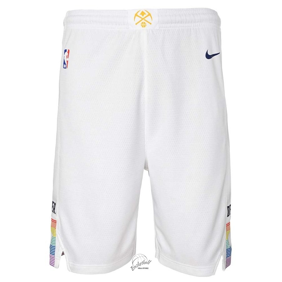 reputable site new products huge inventory Choisir Short Basket Enfant Denver Nuggets Nike Blanc 2018 ...