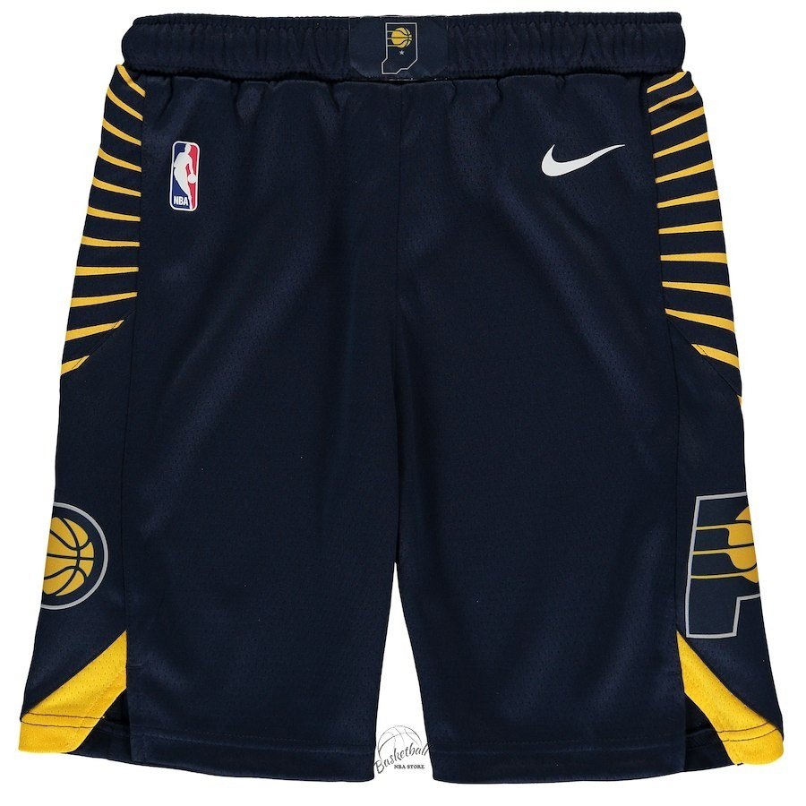 Choisir Short Basket Enfant Indiana Pacers Nike Marine 2018-19