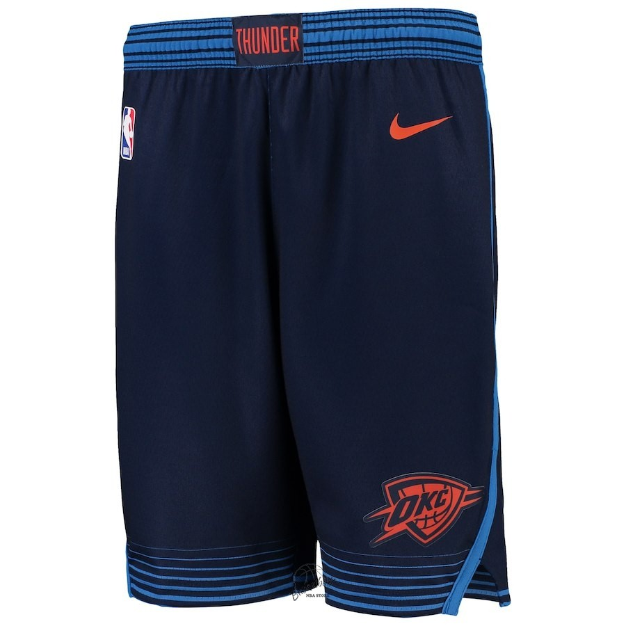 Choisir Short Basket Enfant Oklahoma City Thunder Nike Marine Statement 2018