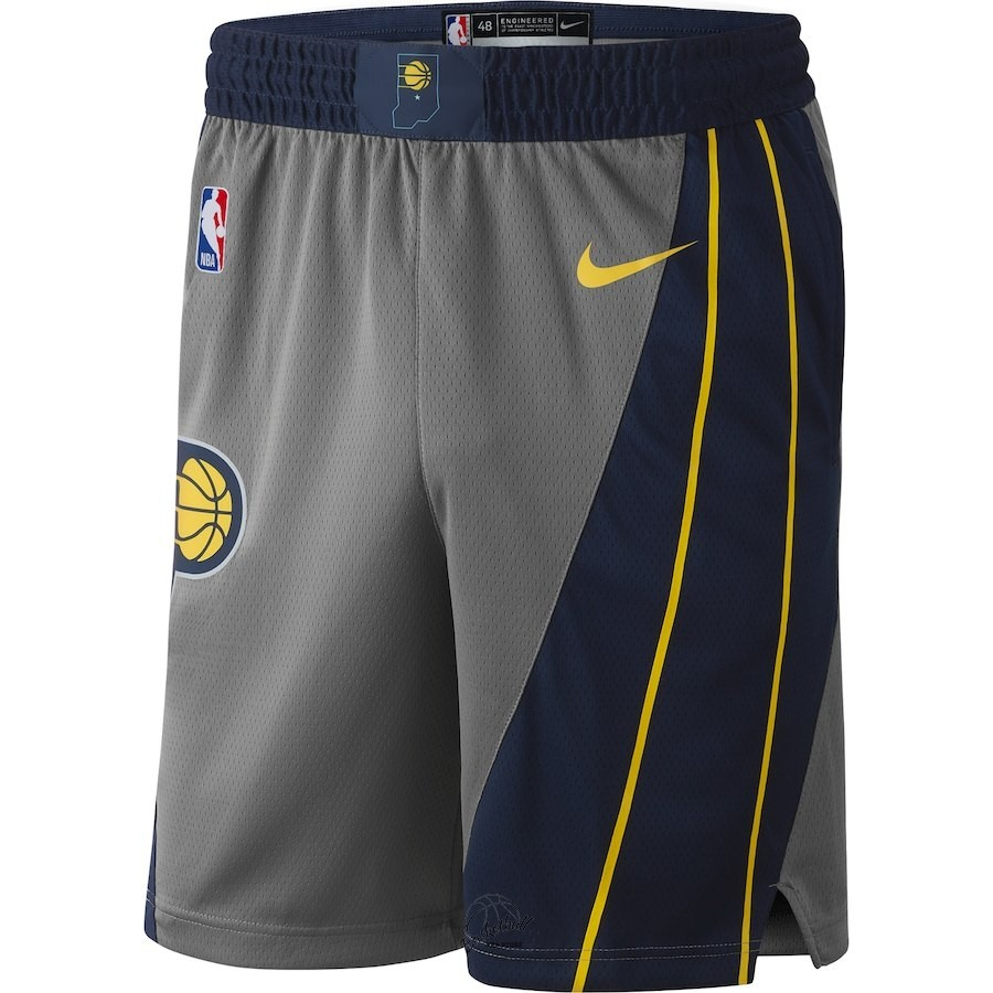 Choisir Short Basket Indiana Pacers Nike Gris Ville 2018-19
