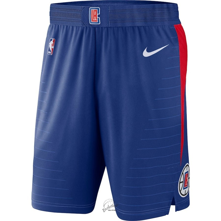 Choisir Short Basket Los Angeles Clippers Nike Bleu Icon 2018