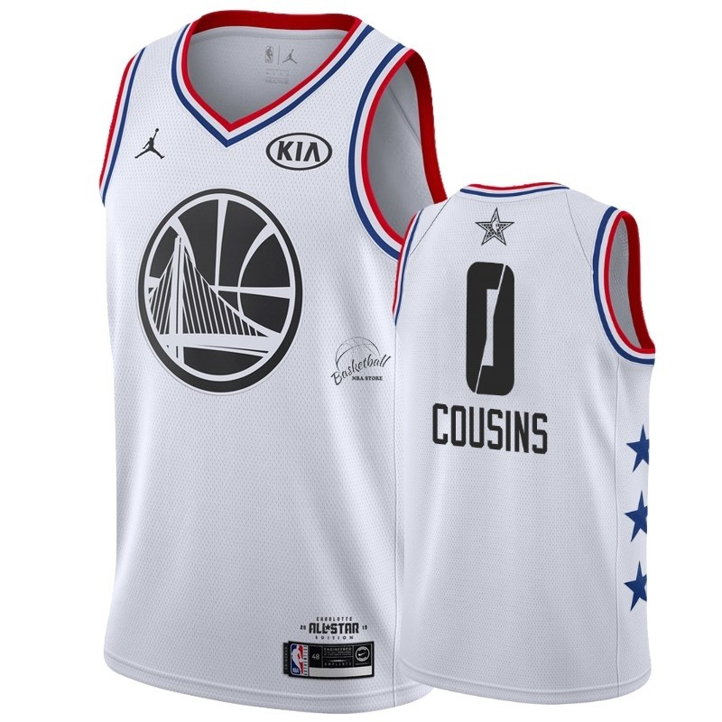 Choisir Maillot NBA 2019 All Star NO.0 DeMarcus Cousins Blanc