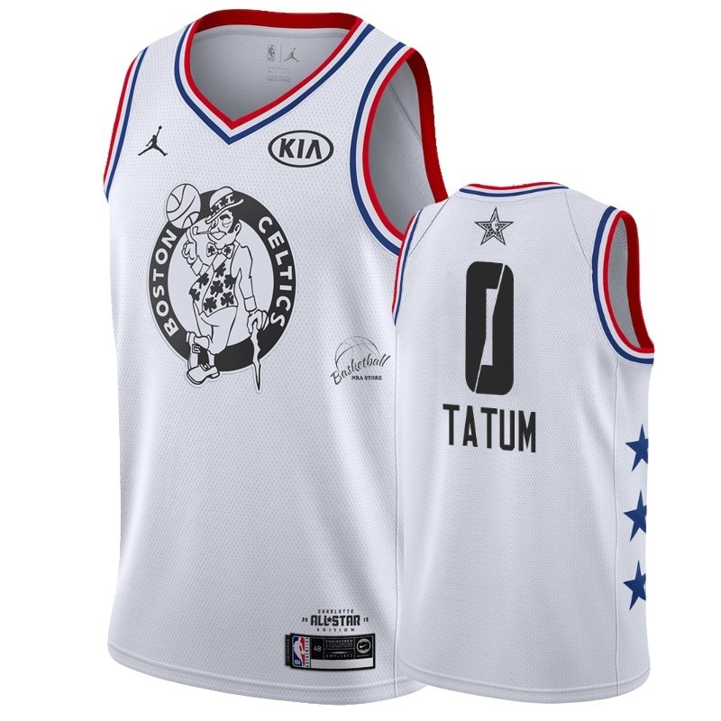 Choisir Maillot NBA 2019 All Star NO.0 Jayson Tatum Blanc