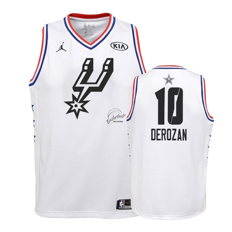 Choisir Maillot NBA Enfant 2019 All Star NO.10 DeMar DeRozan Blanc