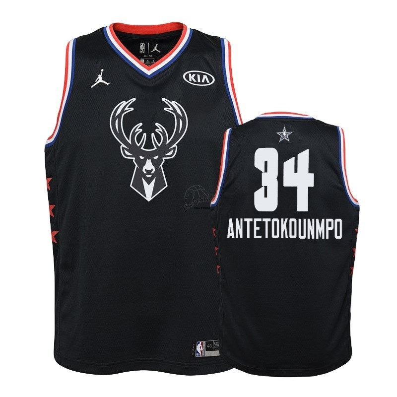 Choisir Maillot NBA Enfant 2019 All Star NO.34 Giannis Antetokounmpo Noir