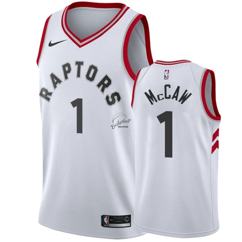 Choisir Maillot NBA Nike Toronto Raptors NO.1 Patrick McCaw Blanc Association 2018-19
