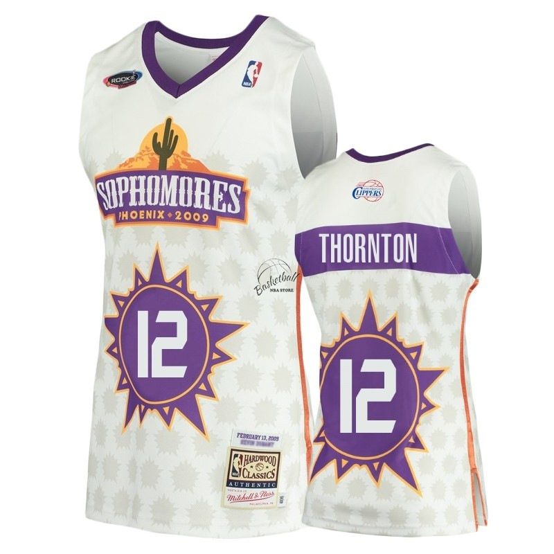 Choisir Maillot NBA Los Angeles Clippers NO.12 Al Thornton Blanc Hardwood Classics 2009