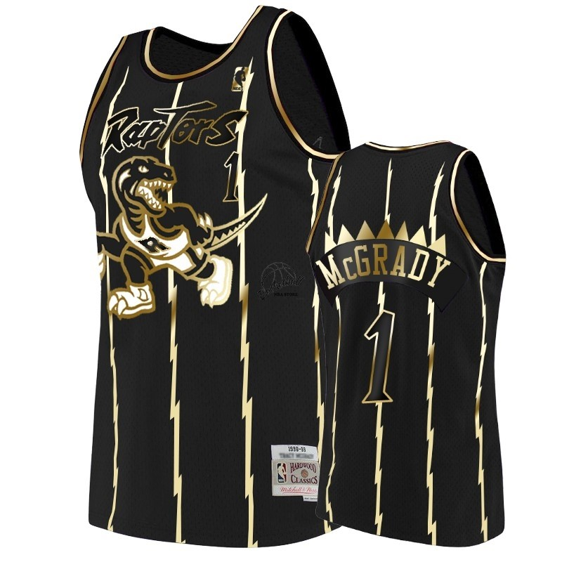 Choisir Maillot NBA Nike Toronto Raptors NO.1 Tracy McGrady Or Edition