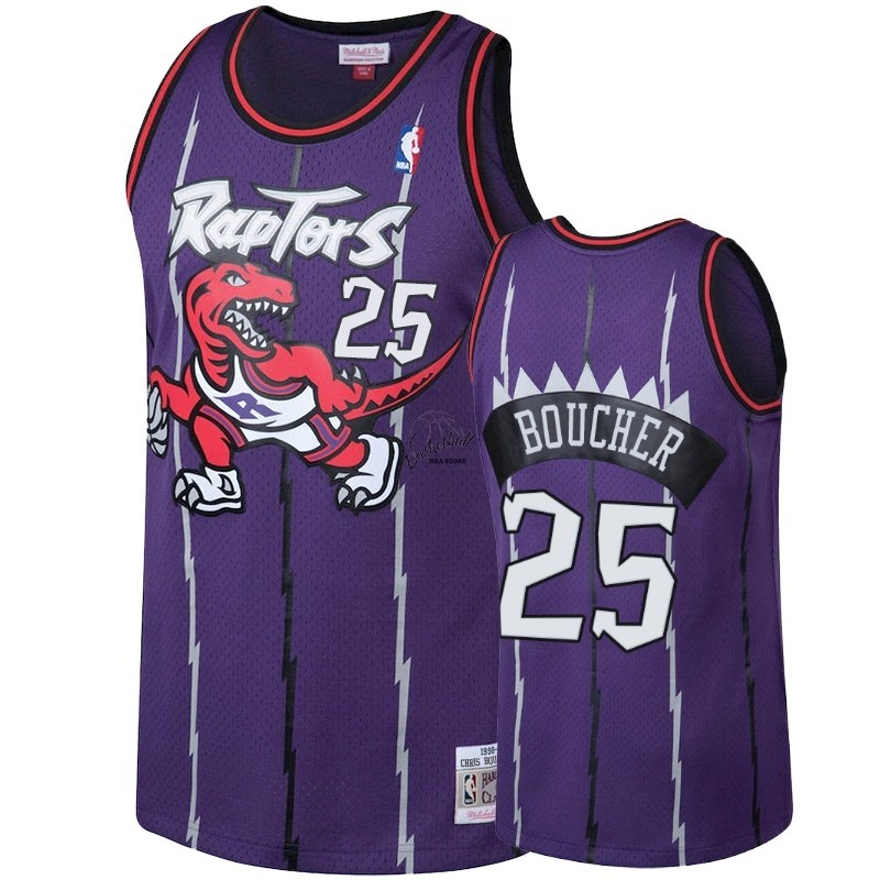 Choisir Maillot NBA Toronto Raptors NO.25 Chris Boucher Pourpre Hardwood Classic 1998-99
